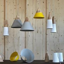 СКЛОН Skrivo дизайн Дерева и алюминия подвесные светильники ресторан кафе-бар столовая подвесной светильник