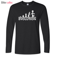 New LEGO Robot EVOLUTION T Shirt Funny Printed Sheldon Cooper T Shirts Men Long Sleeve O