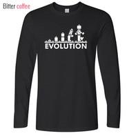 New LEGO Robot EVOLUTION T Shirt Funny Printed Sheldon Cooper T Shirts Men Long Sleeve O