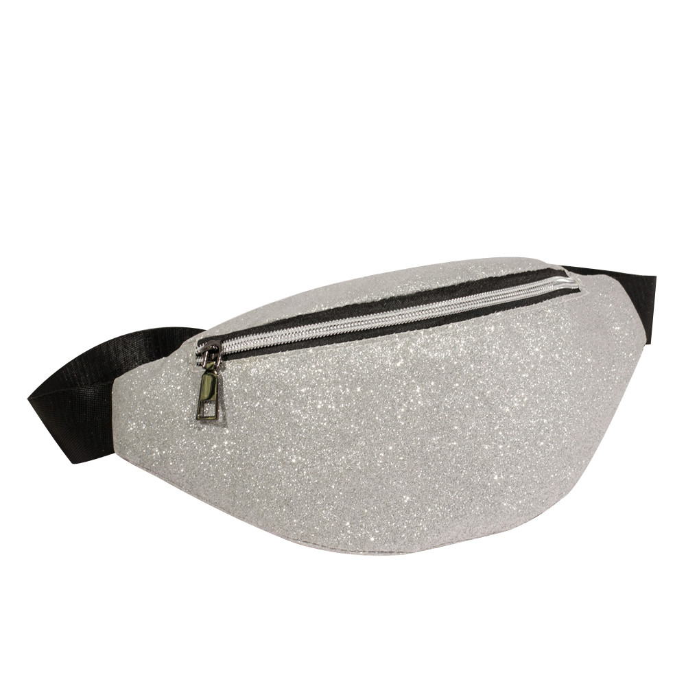 2018 Fashion Women Waist Bag Bling Sequins Shoulder Bag Casual Chest Bag Zip Fanny Pack Multi-Function Waist Bags Hot Sale цена 2017