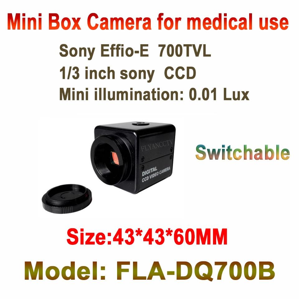 ФОТО best cctv brand mini box camera 700TVL video surveil system Sony CCD EFFIO Small Industrial Camera for medical furnace monitor