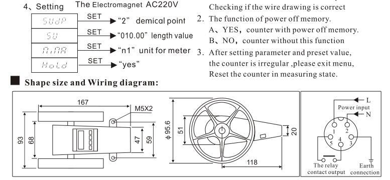 wheel counter meter