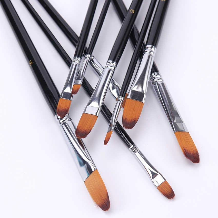 9 piezas lengua pico pintura acuarela conjunto de cepillos de pelo de Nylon pintura pincel acrílico pintura cepillo pluma pincel de suministros de arte