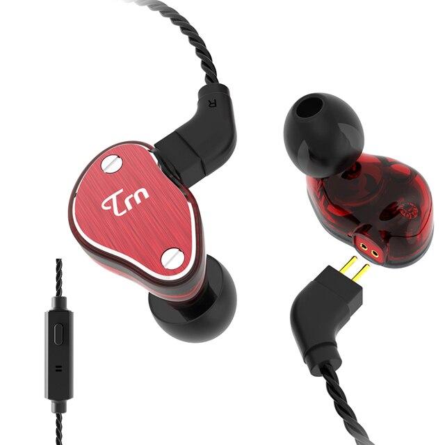 TRN V60 2DD+BA Hybrid In Ear Earphone HIFI DJ Monitor Running Sport Earphone Headset With 2PIN Cable