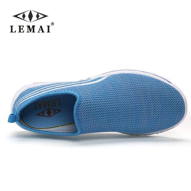 LEMAI 2017 brand mesh breathable Summer women Flats, casual ultralight flats New size 36-40