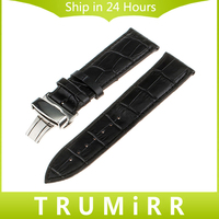 16mm 18mm 20mm 22mm 24mm Calf Genuine Leather Alligator Grain Watch Band For Tissot 1853 Wrist