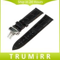 16mm 18mm 20mm 22mm 24mm Calf Genuine Leather Alligator Grain Watch Band For Tissot 1853 Wrist