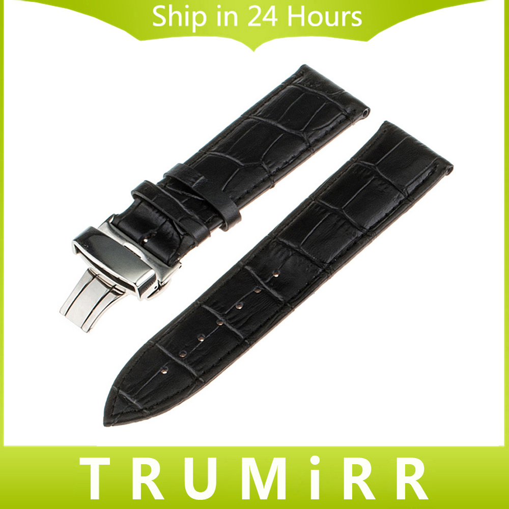 Top Layer Genuine Cow Leather Watchband for Tissot Men Women Watch Band Croco Strap Wrist Bracelet 14mm 16mm 18mm 20mm 22mm 24mm 18mm 20mm 22mm quick release watch band butterfly buckle strap for tissot t035 prc 200 t055 t097 genuine leather wrist bracelet