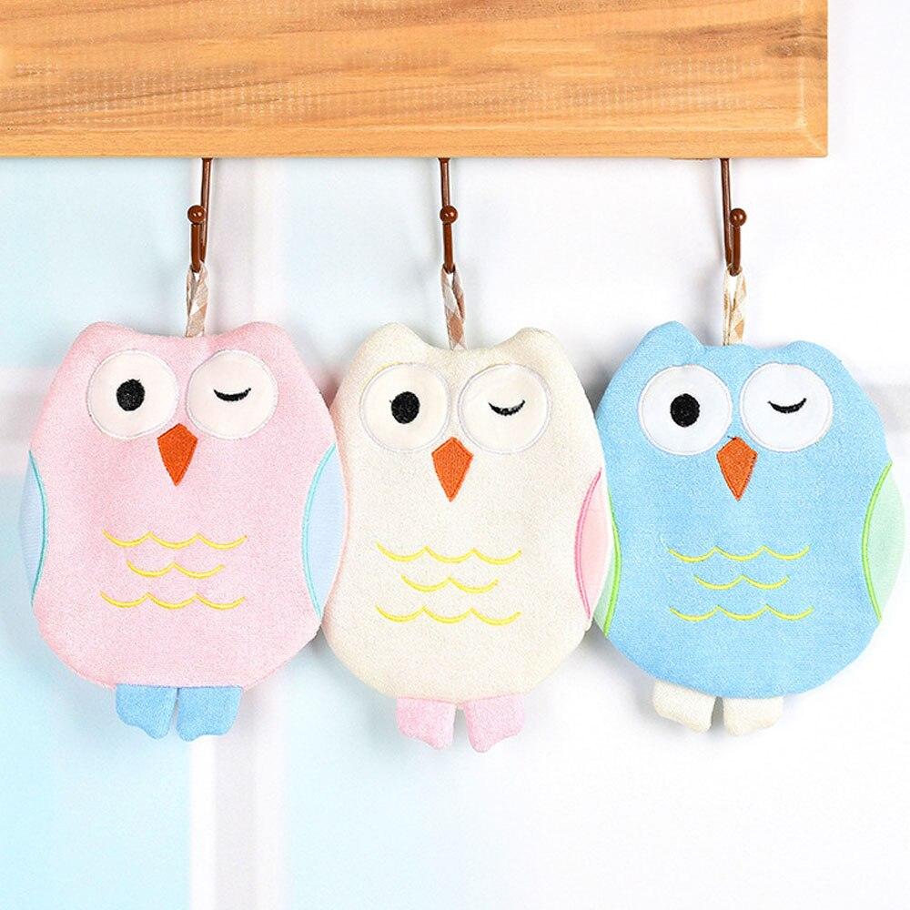 1 Pc Children Cartoon Owl Bath Rub Gloves Shower Body Wash Puff Mesh Net Ball Bathroom Daily Use Cleaning Supply