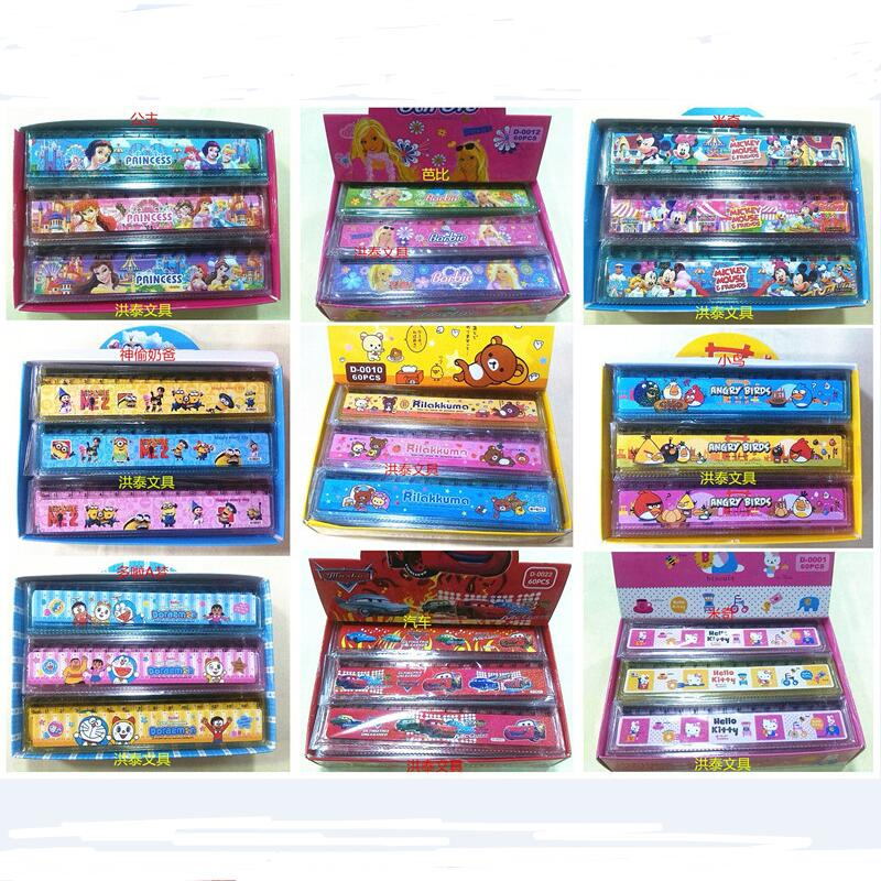 6 Pcs 1 Lot Korean Stationery Cartoon Ruler Wholesale 15CM Variety Of Cute Cartoon Ruler Plastic Ruler Sub 15 Cm