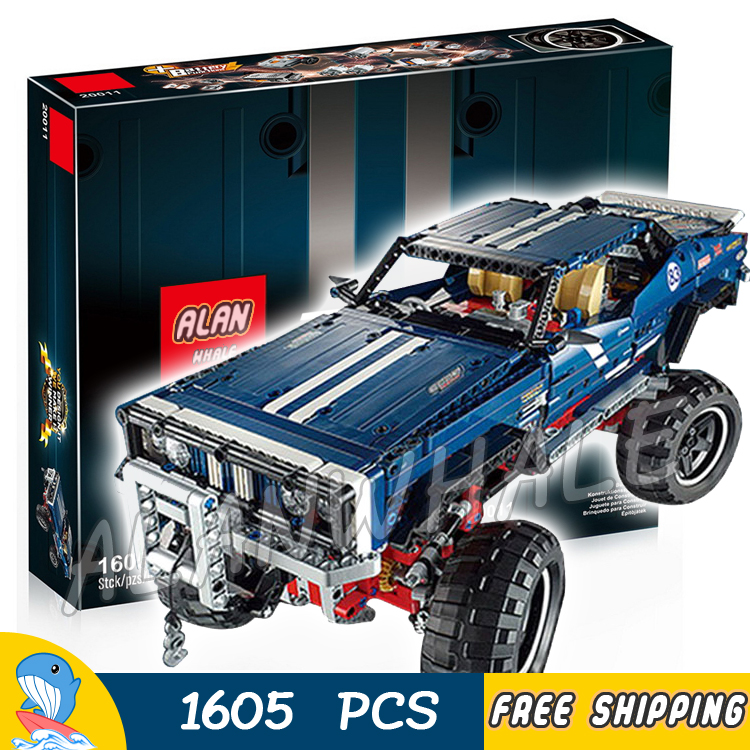 1605pcs Techinic Remote Controlled 4x4 Crawler Exclusive Edition LED Light 20011 Model Building Blocks Toys Compatible With lego 1636pcs 2in1 techinic remote controlled