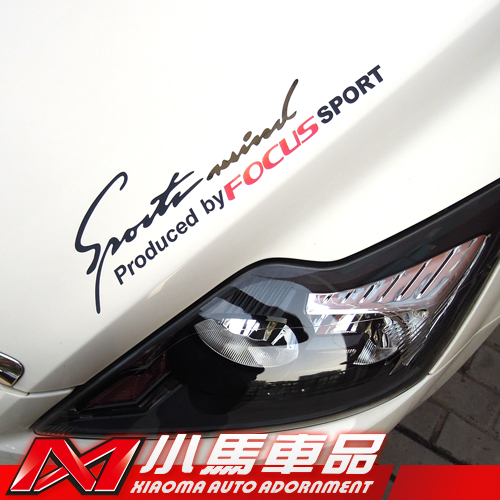 Product pictures car styling sports mind produced by focus sport sticker car sticker for ford focus 2 3