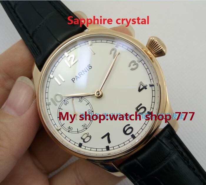 Sapphire crystal  44mm PARNIS ST3600/6497 gooseneck Mechanical Hand Wind movement Mechanical watches men's watches wholesale o27 sapphire crystal 44mm parnis st3600 6497 gooseneck mechanical hand wind movement mechanical watches men s watches wholesale o27