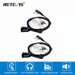 2 шт. Акустическая трубка микрофон PTT 2Pin наушников наушники для портативной рации для Kenwood TYT Baofeng 888 s UV-5R UV-82 RETEVIS RT22 H777 RT-5R