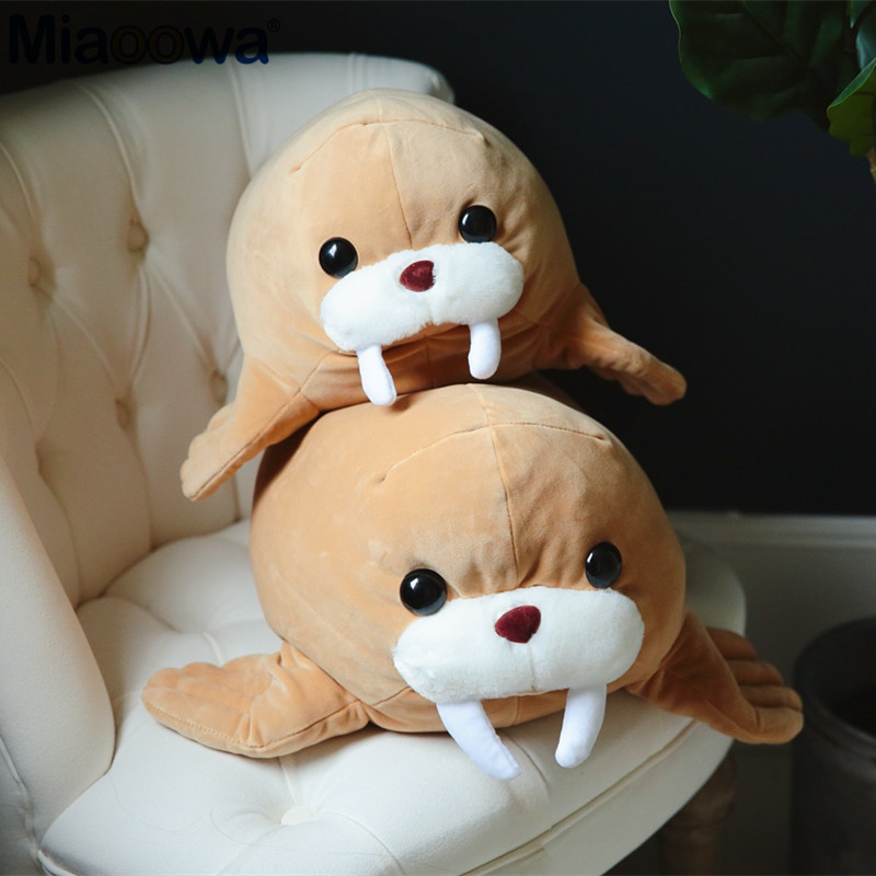 1pc 45/55cm Kawaii Walrus Plush Toy Fabric Is Soft And Comfortable As A Pillow For Children As A Birthday Present