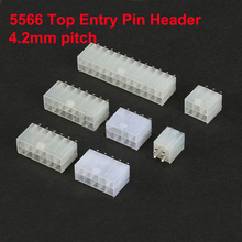 5566 5557 4.2mm Pitch Cable Jumper Wire Connector Top Entry Pin Header Straight Needle 2 To 24Pin Shell Male Terminal Available