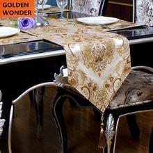 European Luxury Minimalist Modern High grade Embroidered Table Runners Runner Cloth Bed Mat