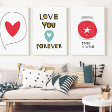 Elegant Poetry Simple Abstract Warm Love  Canvas Painting Print Poster Picture Wall Home Decoration