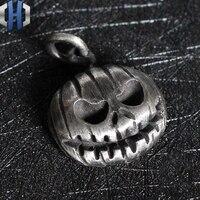 Men And Women Necklace Pendant Halloween Pumpkin Head Original Handmade 925 Sterling Silver Necklace Pendant Keychain