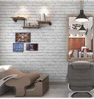 3D White Brick Wallpaper Roll Waterproof PVC Vinyl Tile Wall Paper for Hotel Bathroom Background Wall Papel De Parede 10Mx53CM