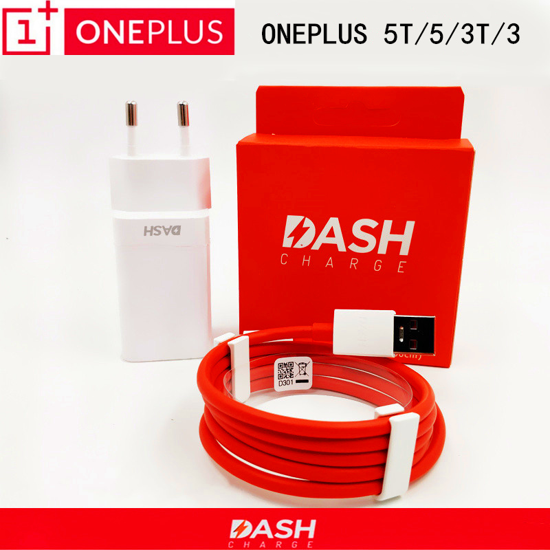 Original ONEPLUS 5 Dash Charger one plus 5t 3t 3 Smartphone 5V/4A usb wall travel adapter &USb 3.1 Type C fast charge cable