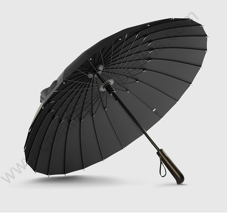 100cm hand open anti thunder 24 fiberglass ribs solid antique wooden business umbrella commercial manual stick windproof parasol-in Umbrellas from Home & Garden    1