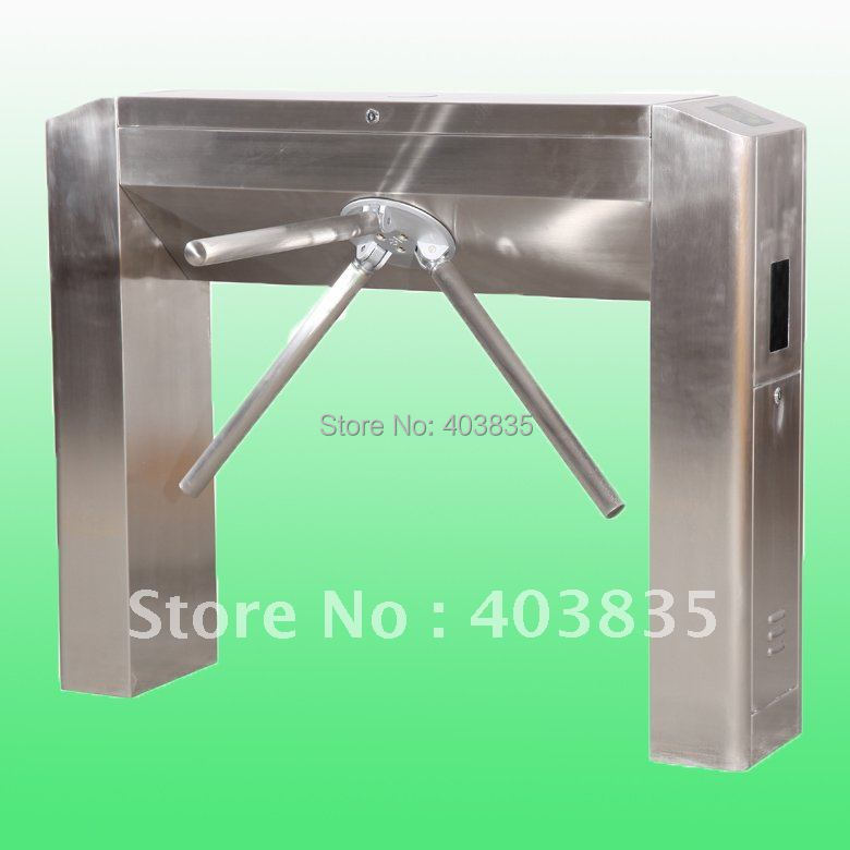 Automatic Tripod Turnstile for access control automatic tripod turnstile with built in electronics and 2 readers remote control panel for access control system