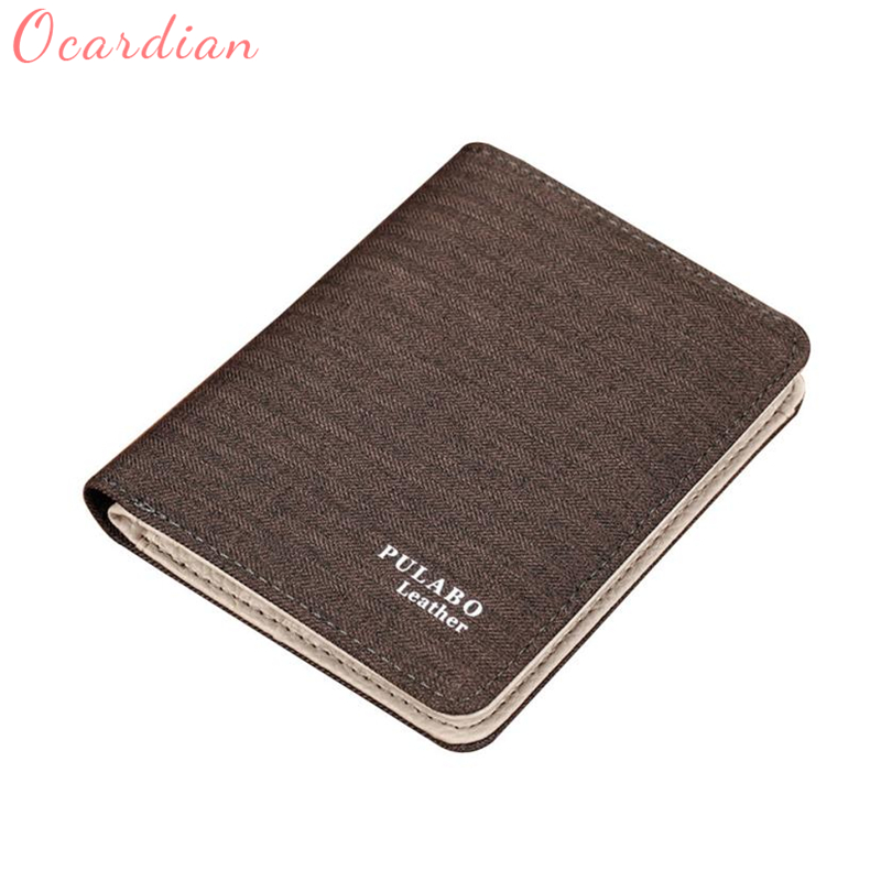 2018 Ocardian Mans Embossing Canvas Wallet Pocket Credit Card Clutch Bifold Purse Fit for all style of clothes best gifts C0126