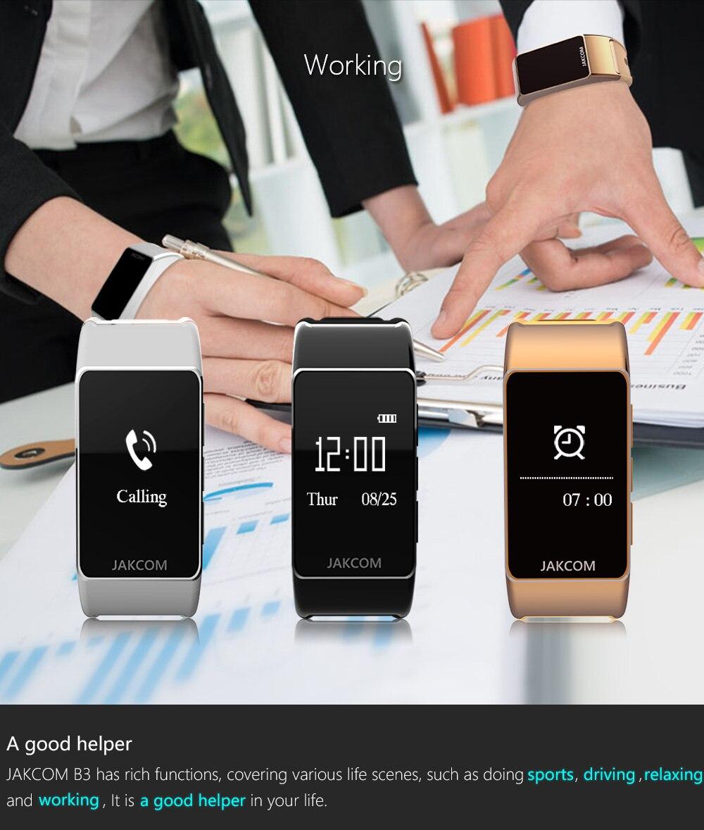 Jakcom B3 Smart Band New Product Of Wristba As Heart Rate Monitor Watch For Xiaomi Mi Band 2 Bracelet Talkband