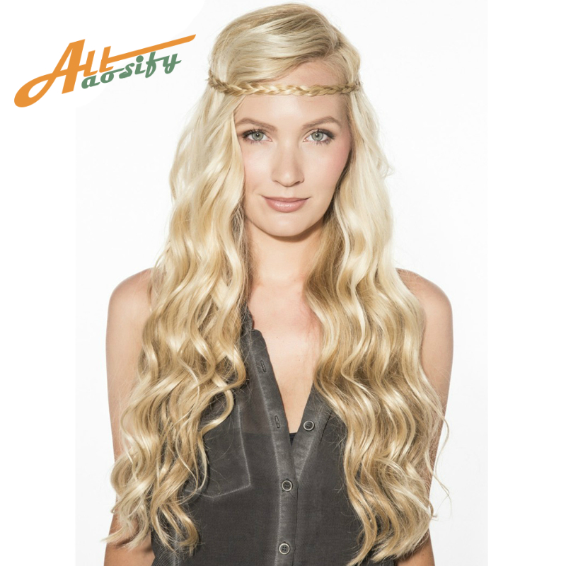WTB Long Kinky Hair Wig Heat Resistant Synthetic Wigs For Women Natural Fake Hair With Middle Hair Part