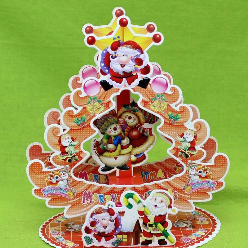 1pc handmade cartoon santa christmas greeting card kids 1pc handmade cartoon santa christmas greeting card kids birthday greeting cards christmas decoration gift cards with envelop m4hsunfo