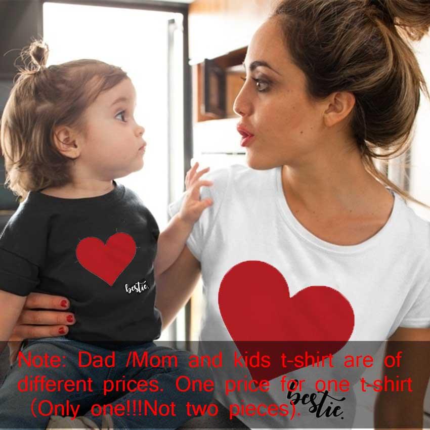 Gourd Doll/одежда «Мама и я» одинаковые комплекты для семьи для мамы и дочки футболка мягкие хлопковые топы с принтом сердца для мамы и ребенка
