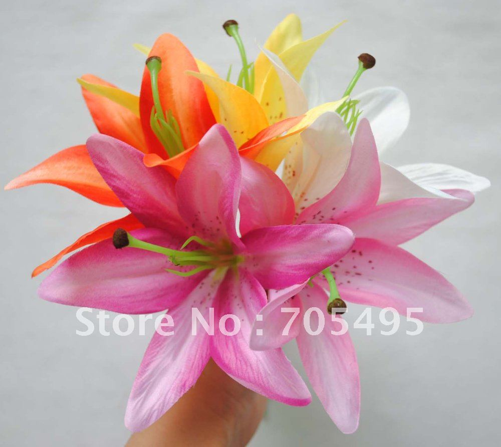 Hot Sale Free Shipping Artificial Wedding Favorlily Flower Green