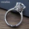 Vecalon Новый Женский Старинные Ювелирные Изделия кольцо Круглый 3ct Имитация алмазный Cz Стерлингового Серебра 925 обручальное кольцо Обручальное кольцо для женщин