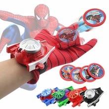 Cosplay Marvel Avengers Super Heroes Gloves Laucher Spiderman One Size Glove Gants Props Christmas Gift for Kid
