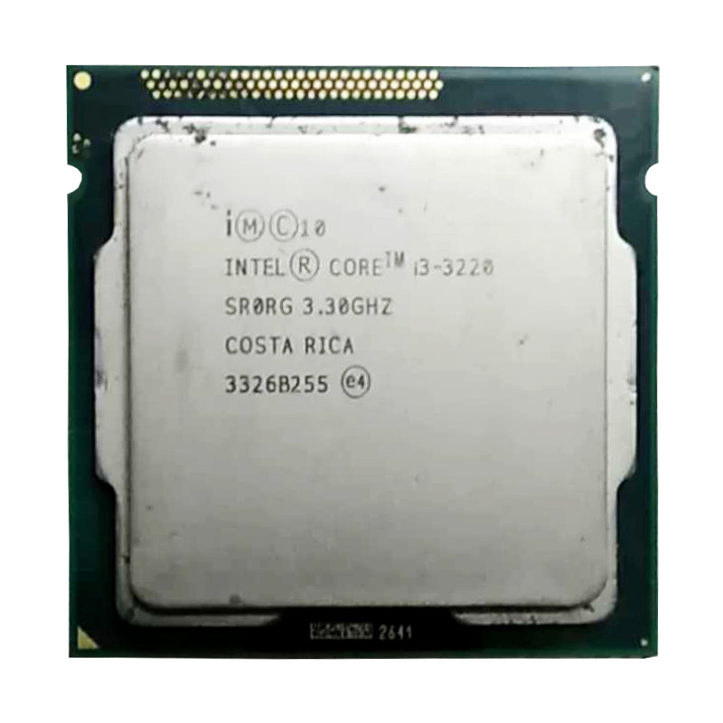 intel core i3 3220 cpu 3.4ghz /3M cache LGA 1155 TDP 55W desktop processor can use h61 B75 B85 Z77 H61 chip, have i3 3240 sale