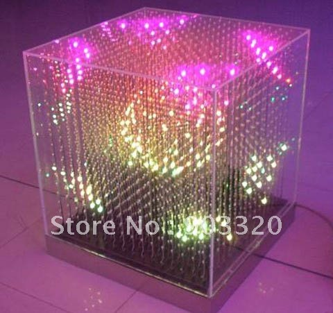 Commercial Lighting Brave Smd 5mm 3 In 1 16*16*16=4096 Pixel Laying 3d Led Cube Light Led Display For Stage Disco Party Exhibition Bar Club Ample Supply And Prompt Delivery