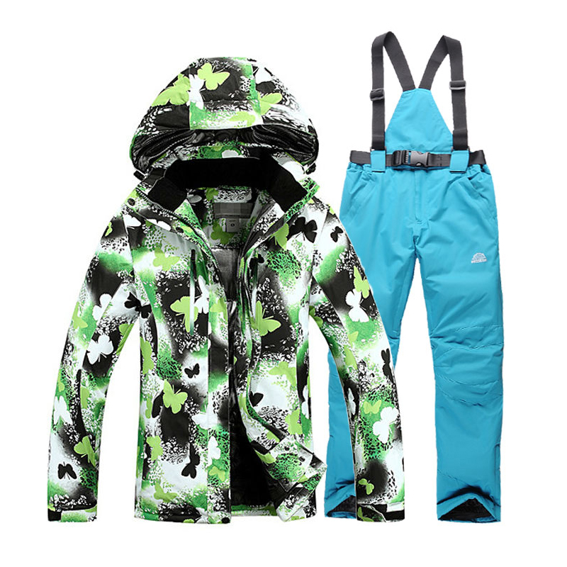 2017 NEW arrival Winter Suit Sets Waterproof Windproof Women Ski Jacket and Pants Warm Thicken Breathable Clothes free shipping the new 2017 gsou snow ski suit man windproof and waterproof breathable double plate warm winter ski clothes