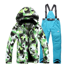 2016 NEW Fashion Winter Women Ski Suit Sets Waterproof Windproof Women Ski Jacket and Pants Warm Thicken Breathable Clothes Set цены онлайн