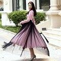 2017 Fashion New Arrivals Larga Maxi Cintura Alta Elegante Abierto diapositiva Del Vendaje Faldas Mujer 7XL Tamaño Grande de Tul Negro Pista faldas