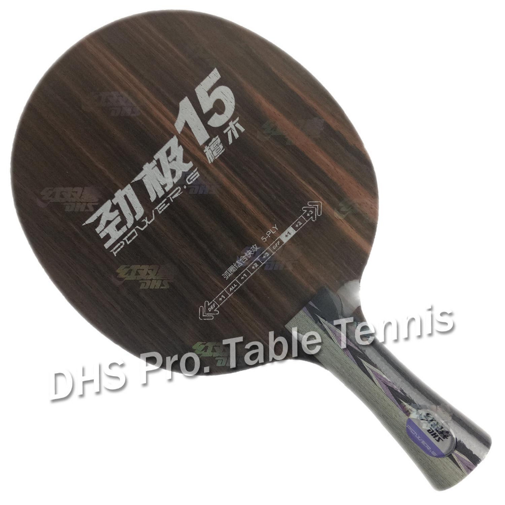 Original DHS Power G15 PG15 Ebony Table Tennis Blade ping pong Blade for table tennis racket bat
