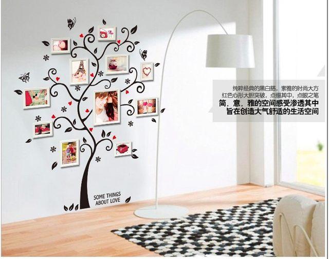 Diy Photo Frame árvore Adesivos De Parede Home Decor Design Sofá Da Sala  Poster Decalques Da Arte Da Parede Decoração Da Casa Do Vintage