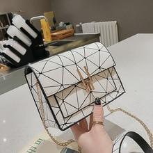Women Shoulder Bags 2019 summer new Korean version of the Messenger bag handbag chain wild crack printing wild shoulder bag