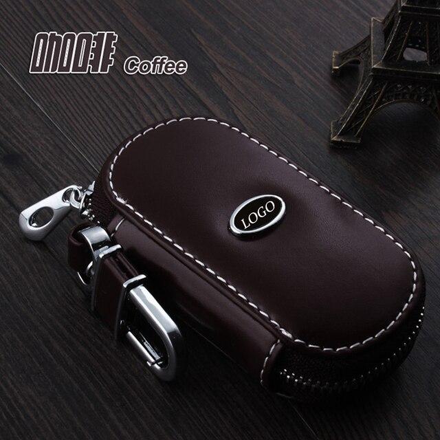 Llavero de cuero Del Coche Cubierta de la Caja Fob ForAudi A3 A4 A6 A8 A6L R8 RS4 RS5 A5 A7 A4L Q7 TT Q5 Q3 A1 wallet Key Holder Accesorio