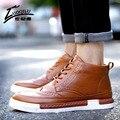 2016 Marca Otoño Invierno Hombres Botas de Alta Superior de Cuero de LA PU Martin botas Hombre Botines Con Cordones Para Hombre italiano Zapatos botas hombre