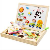 3D Wood Magnetic Jigsaw Puzzles Toys For Children And Bear Kids Toys For Baby Toys Educational