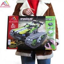 sermoido 42065Technic Series The RC Track Remote-control Race Car Set Building Blocks DIY Bricks toy boy birthday gift