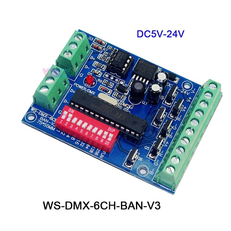 Lights & Lighting Dc5v-24v,3ch/4ch/6ch/8ch/9ch/12ch Led Rgb Rgbw Dmx512 Decoder Controller For Led Strip Light Led Module Delaying Senility
