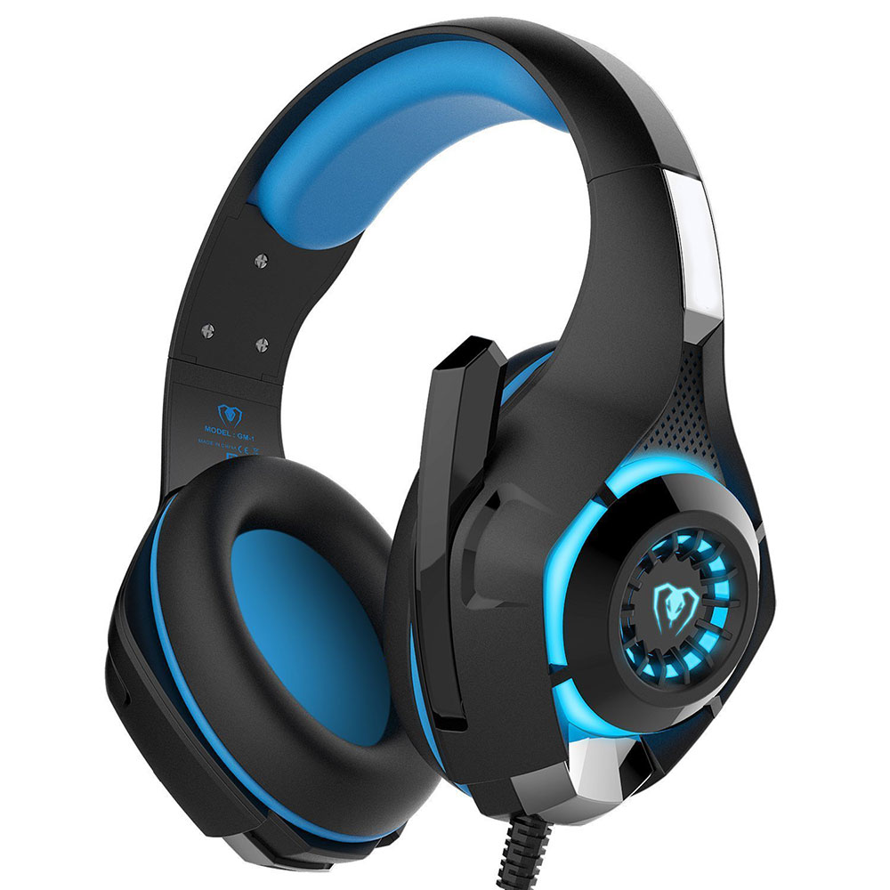 Gaming Headphones Over-Ear Stereo Noise Cancelling Game Headset with Microphone for Computer PC Gamer Luminous Ecouteur
