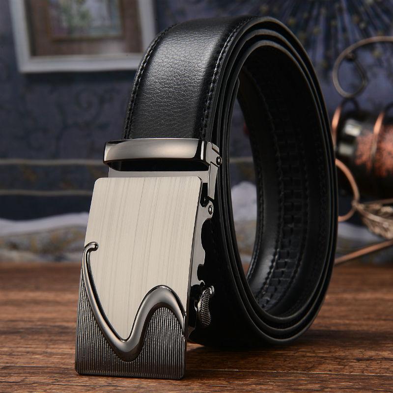 2017 Men's leisure 110-130cm   Belt  ,man pure leather   belt   automatic buckle   belts   High Quality Automatic Buckle Cowhide   Belts